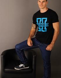 """T-Shirt HEGIRE """" H' """"Bleu""""."""
